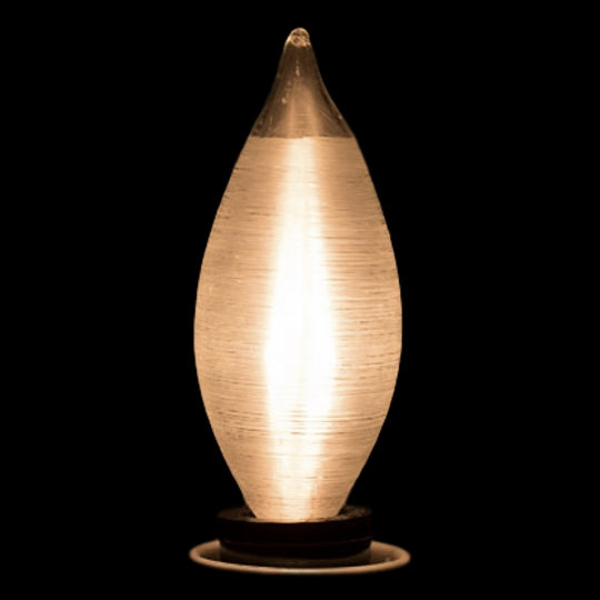 25 Watt Thread Spun Bulb - Candelabra - Satin finish