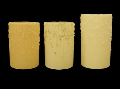 "4"" Diameter Translucent Beeswax Candle"