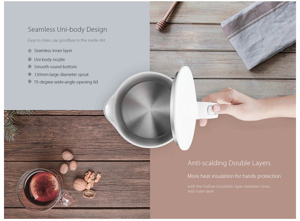 2019 New XIAOMI MIJIA Electric kettle fast boiling st - kitchen gadgetsandmore