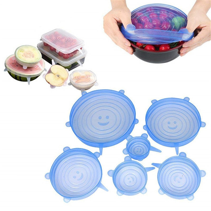 Silicone Food Lid Stretch Universal Bowl Preservation - kitchen gadgetsandmore