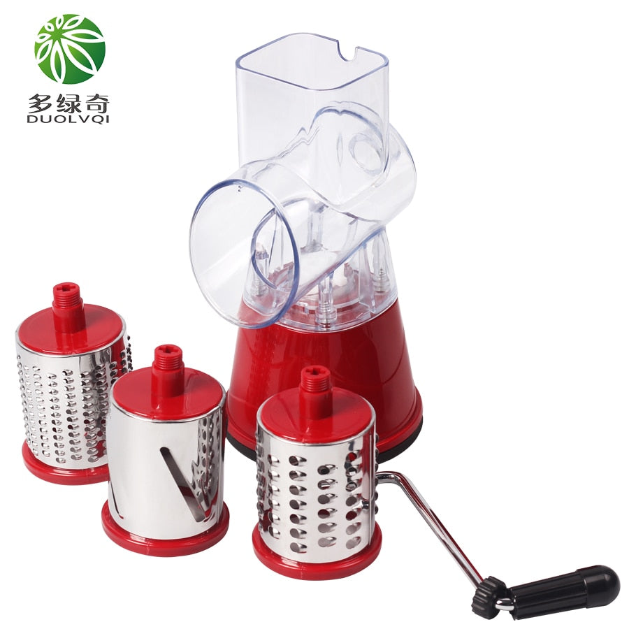 Manual Vegetable Cutter Slicer  Round Mandoline - kitchen gadgetsandmore