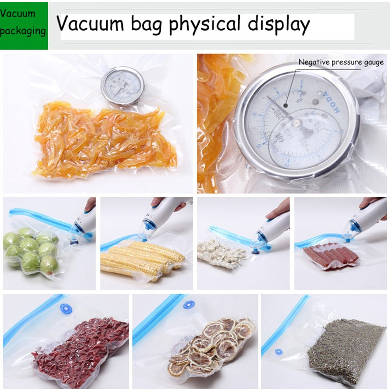5pcs Reusable Food Vacuum Sealed Bag - kitchen gadgetsandmore