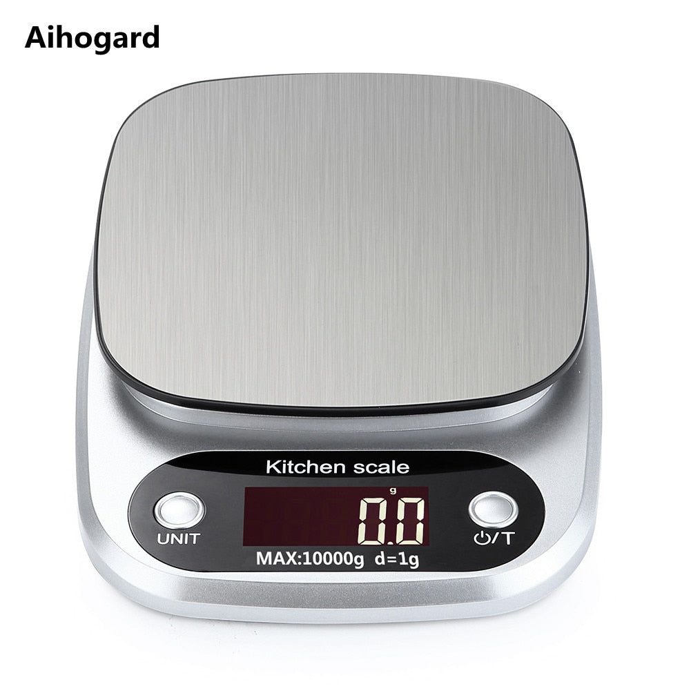 10kg/1g LCD Electronic Kitchen Scales - kitchen gadgetsandmore