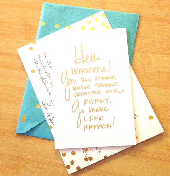Sugar Paper LA confetti notecard featured in VelvetCrate gifts she will love