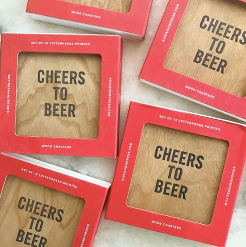 Gift Idea for Beer Lover | Gift Crates for Men | Birthday Gifts for Dad | Beer Coasters