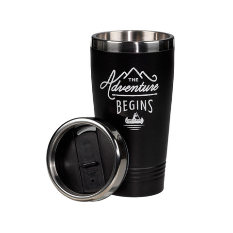 The Adventure Begins Travel Mug - VelvetCrate
