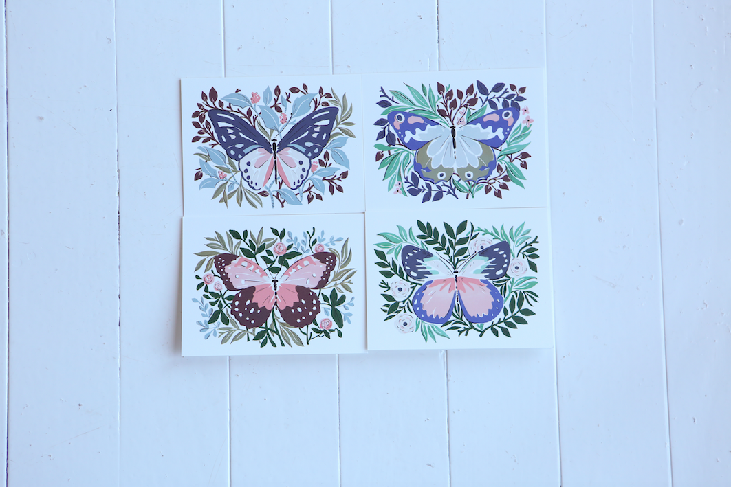 Amy Heitman | Butterfly Notecards | Thinking of You Care Package | Just Because Gift Basket
