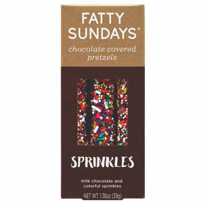 Fatty Sundays Chocolate Covered Sprinkle Pretzels - VelvetCrate