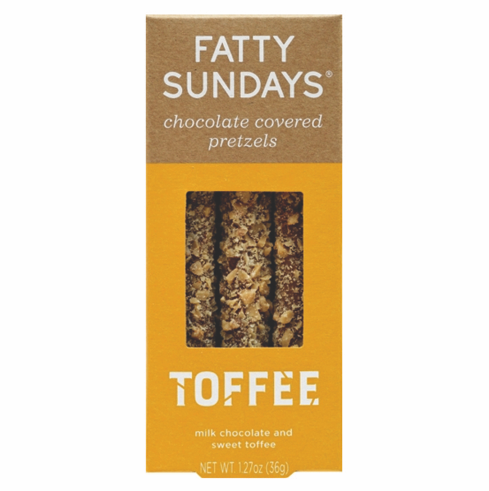Fatty Sundays Milk Chocolate Covered Toffee Pretzels