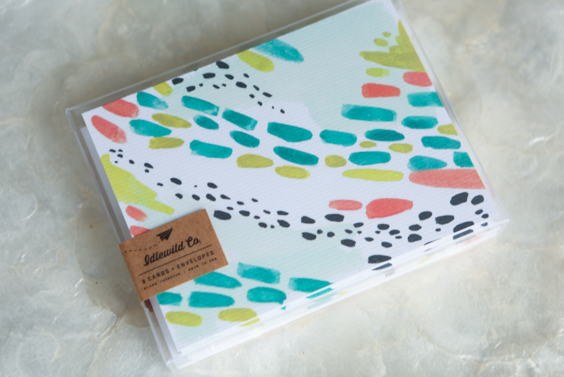 Stationery gift for her | Idlewild Notecards | Birthday Gift Basket