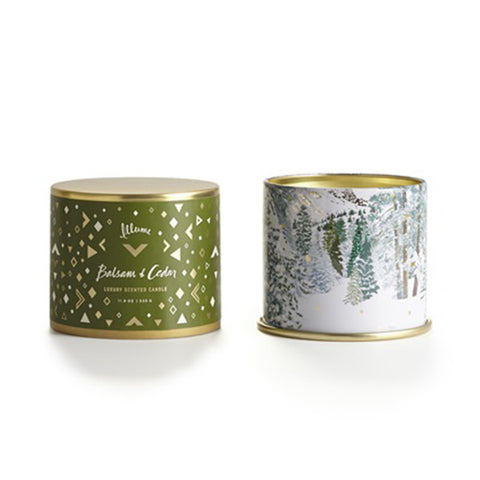 Illume Balsam & Cedar Large Tin Candle - VelvetCrate