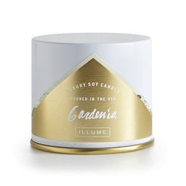 Illume Gardenia Vanity Tin Candle - VelvetCrate