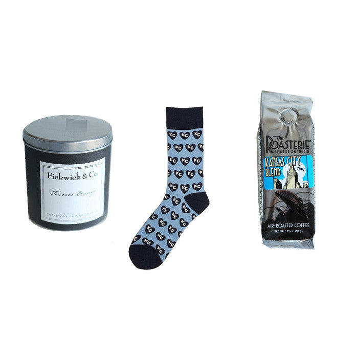 Kansas City Gift Baskets | Kansas City Gift Ideas | Sock 101 | The Roasterie | Pickwick Candles | Best Coffee in KC