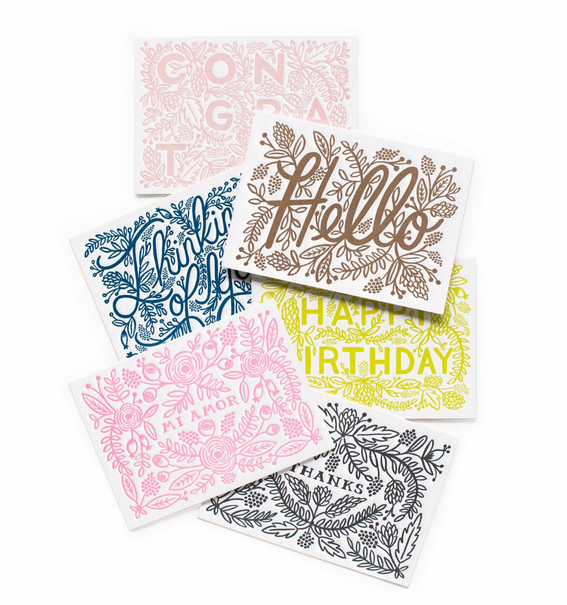 Rifle Paper Co. Letterpress Everyday Assorted Card Set - VelvetCrate