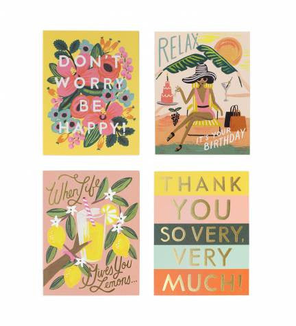 Rifle Paper Co. Happy Everyday Assorted Card Set - VelvetCrate