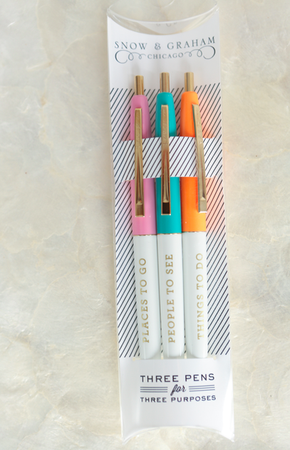 Snow and Graham pens | gift pens for her | gift for writers | Thinking of You gift basket