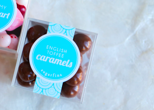 Sugarfina | Boutique candy shop | English Toffee Caramels | stocking stuffer candy gift