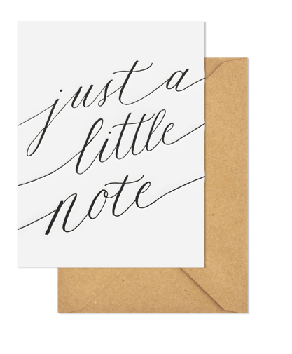 Sugar Paper Just A Little Note Letterpress Notecards - VelvetCrate