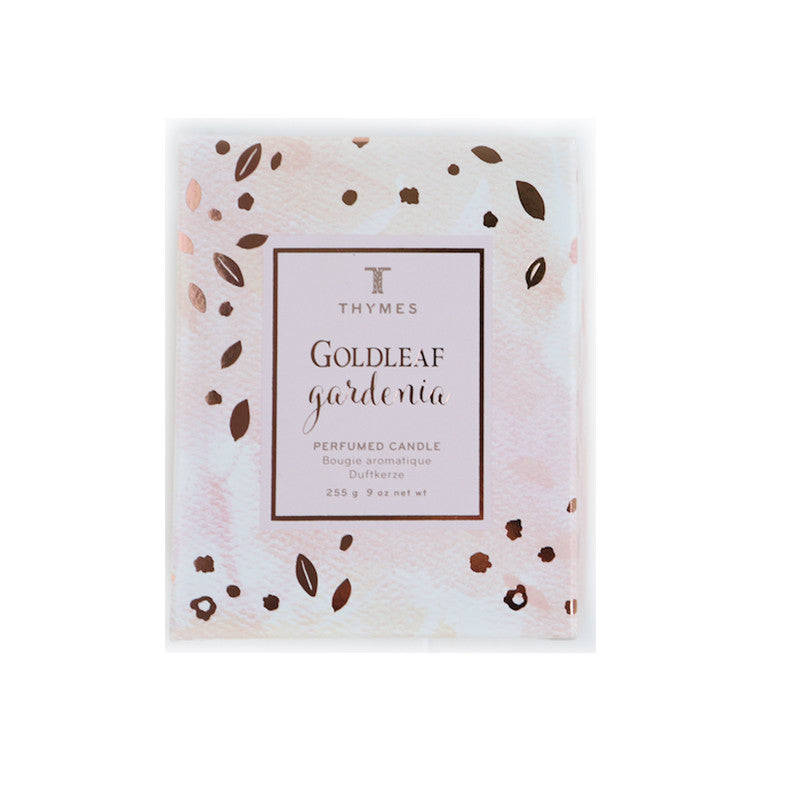 Thymes Goldleaf Gardenia Candle | Thinking of You Gift Crates | Mother's Day Gift Baskets | Create Custom Gift Box