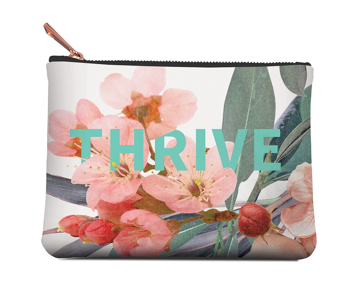 Studio Oh! THRIVE floral cosmetic pouch