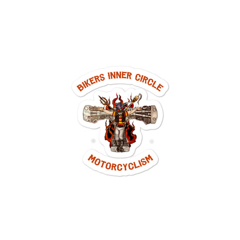 Bikers Inner Circle Motorcyclism Sticker