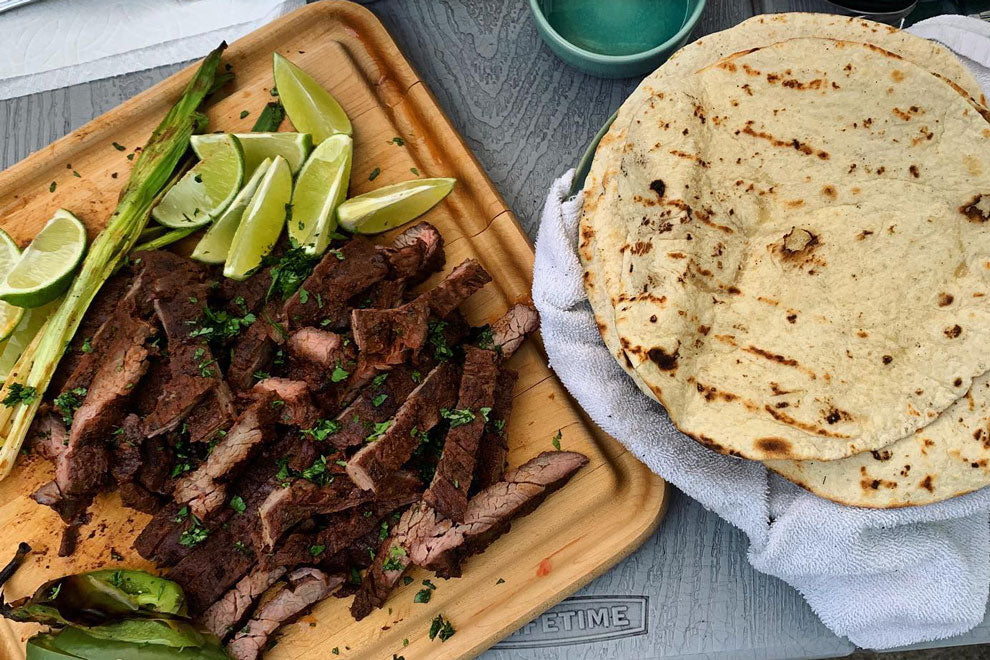 Texican Skirt Steak Tacos