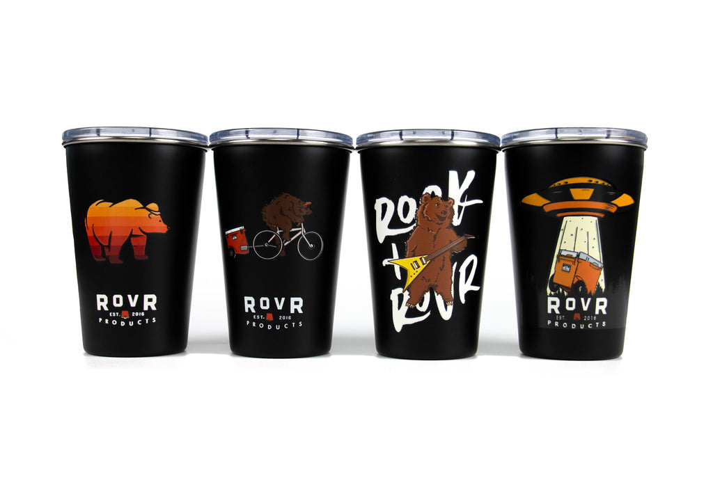 RovR - SINGLE WALL STAINLESS STEEL FOUR PACK CUP SET