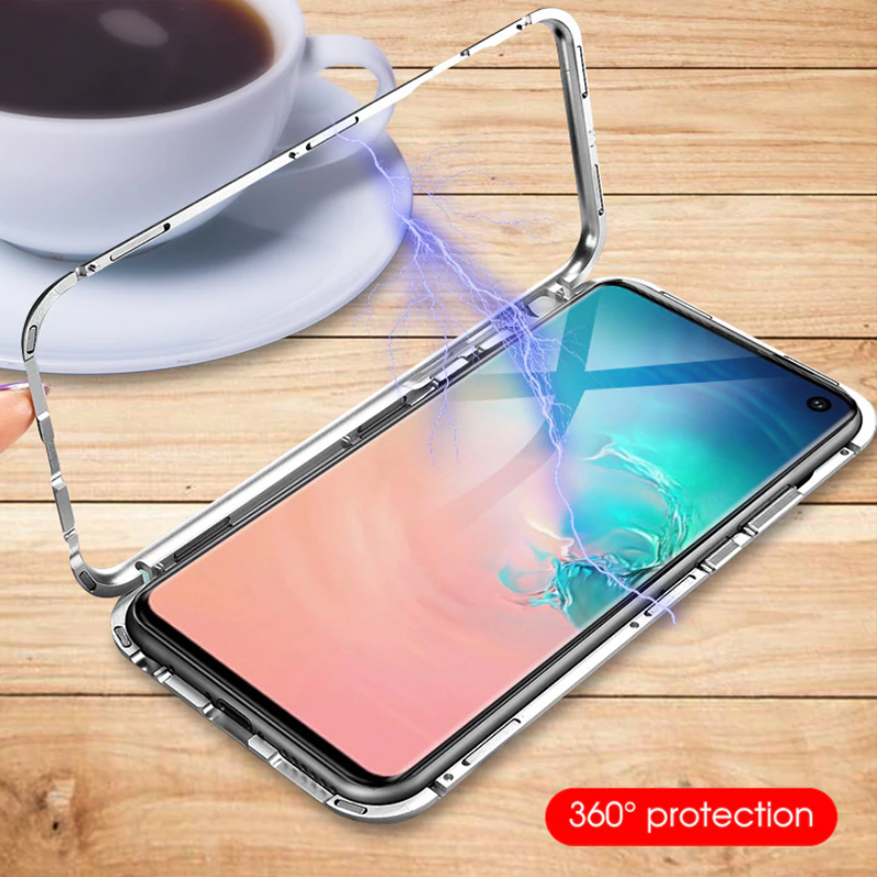 Galaxy S10 / S10 Plus Electronic Auto-Fit Magnetic Glass Case