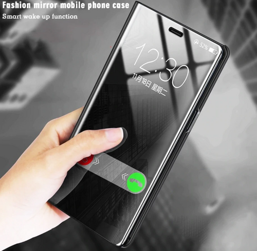 Clear View Smart Mirror Flip Case for Oppo F11/F11 Pro [Non-Sensor]