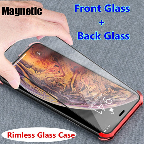 iPhone X Series Premium Frameless Double Glass Magnetic Case