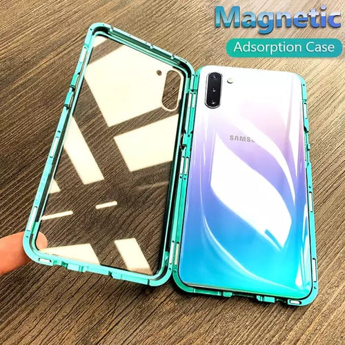 Galaxy M30 Solid Auto-Fit Magnetic Tempered Case + Free 9D Tempered Glass