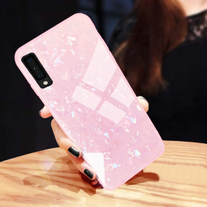 Galaxy M30 Luxury Tempered Marble Glass Case