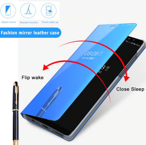 Clear View Smart Mirror Flip Case for Redmi Note 8/8 Pro [Non-Sensor]