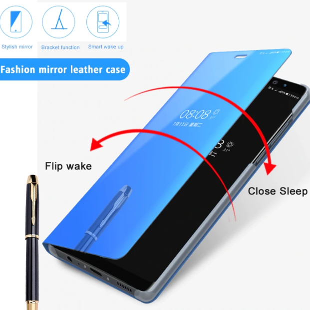 Clear View Smart Mirror Flip Case for Oneplus 7/7 Pro/7T/7T Pro [Non-Sensor]