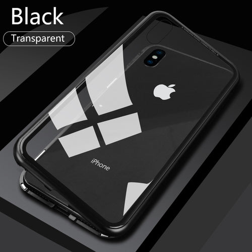 Auto-Fit Glass Magnetic Case For iPhone Xs Max