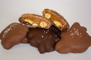 Salted Peanut Caramel Turtles