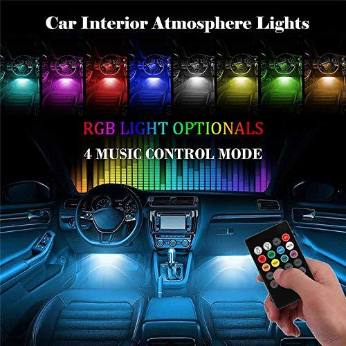 12 LED Multicolor Music Controlled Sound Activated Car Interior Atmosphere Light (works with all cars)