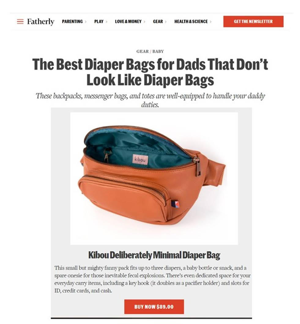 Fatherly - The Best Diaper Bags for dads that don't look like diaper bags