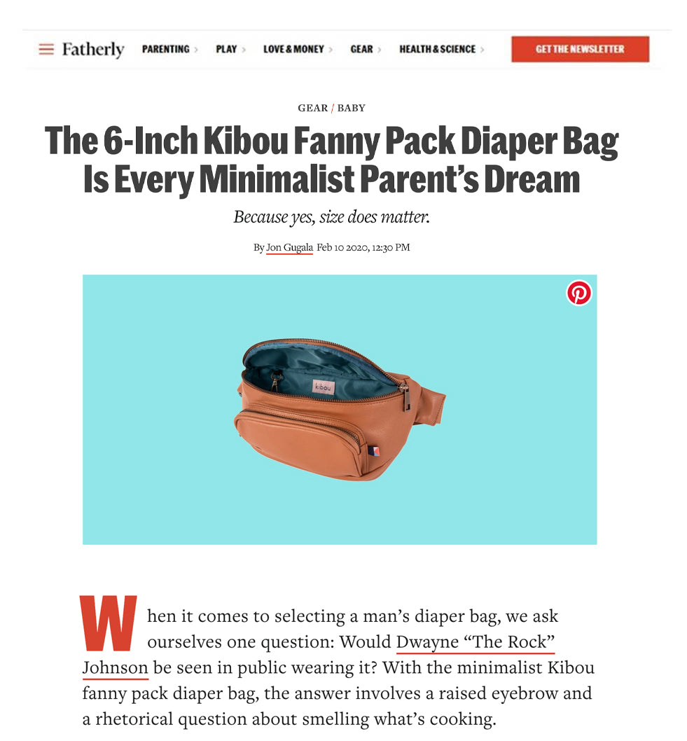 Fatherly - The 6-inch kibou fanny pack diaper bag is every minimalist parent's dream