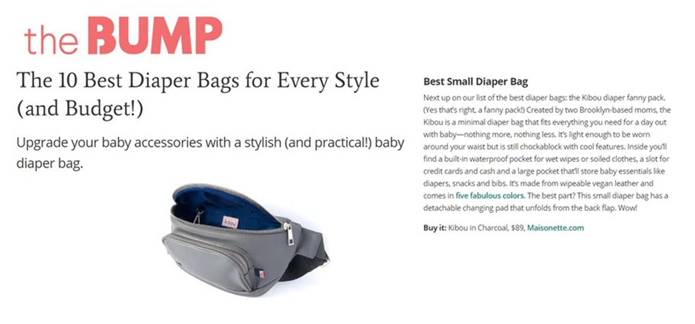 The Bump - The 10 Best Diaper Bags for Every Style (and Budget!)