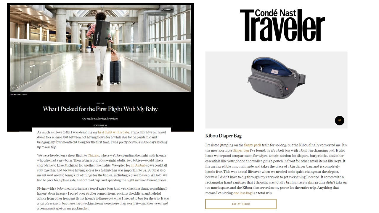 CondeNast Traveller What I Packed for the First Flight With My Baby