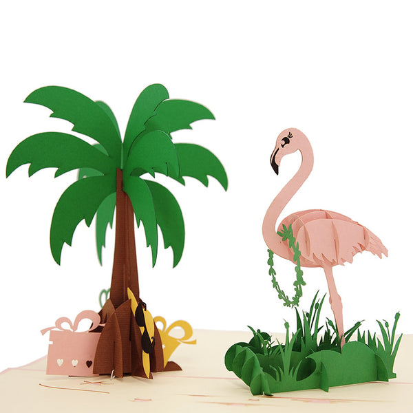 Flamingo 3D Card