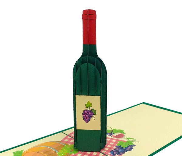 Wine Bottle 3D Card