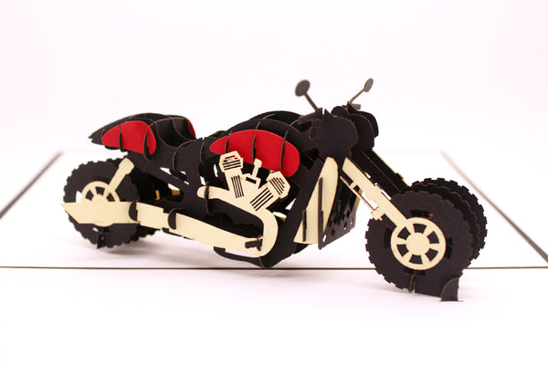 Motorcycle 3D Pop Up Card