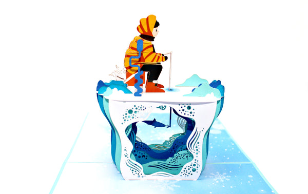 Ice Fishing 3D Card