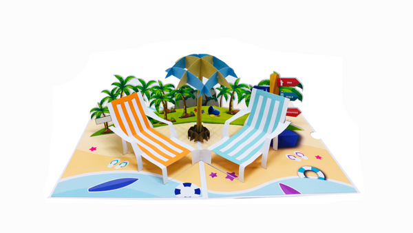 Beachside Pop Up Card