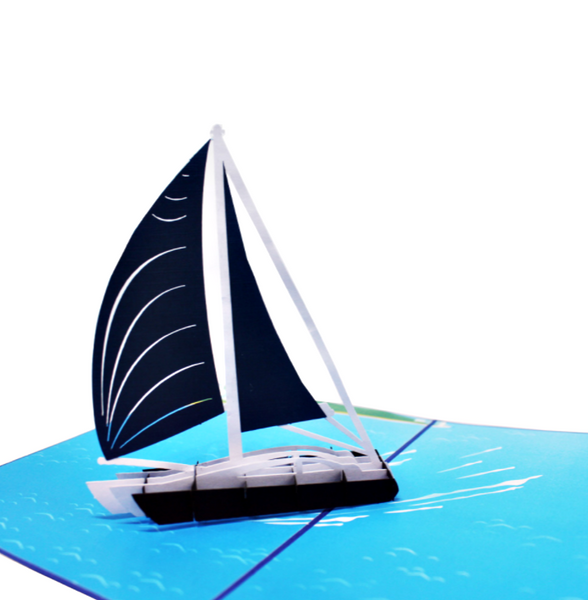 Sailboat pop up card
