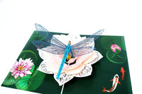 Dragonfly on Lotus Flower Card