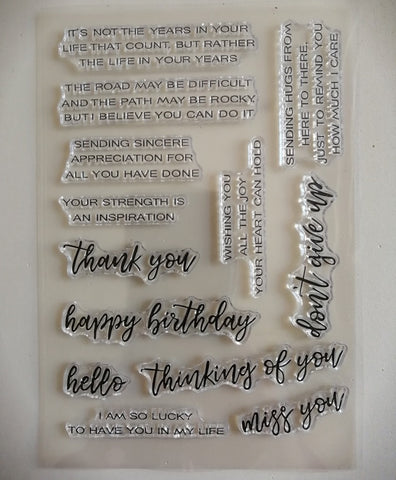Clear Stamp - Quotes 4.5 X 6.5 Inches, 13 Pieces
