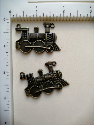 Metal Charms - Engine, 2 Pieces